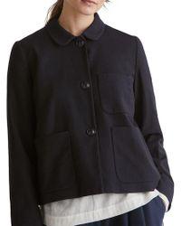 Toast Wool Cotton Blend Jacket - Blue
