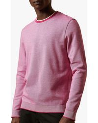 Ted Baker Carriag Cotton Crew Jumper - Pink