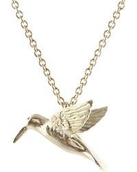 John Lewis - Alex Monroe Hummingbird Pendant Necklace - Lyst