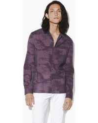 John Varvatos Marbled Jacquard Shirt - Purple