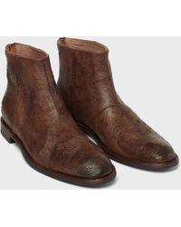 John Varvatos Nyc Back Zip Boot - Brown