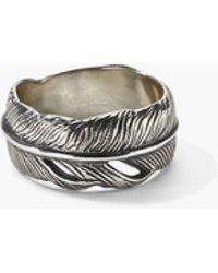 John Varvatos - Silver Feather Ring - Lyst