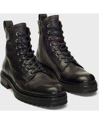 John Varvatos Union Combat Boot - Black