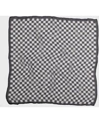 John Varvatos Checkered Bandana - Black