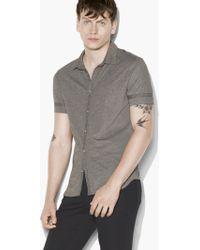 John Varvatos - Short Sleeve Shirt - Lyst