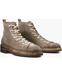 John Varvatos Essex Suede Trooper Boot - Brown