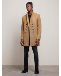 John Varvatos Double-breasted Coat With Pick Stitch - Multicolor