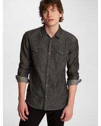 John Varvatos Clint Western Shirt - Black