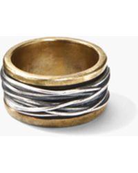John Varvatos - Artisanal Brass & Silver Ring - Lyst
