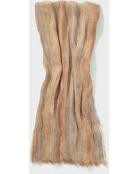 John Varvatos Loose Weave Yarn Dye Scarf - Natural
