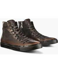 John Varvatos - Reed Mid Top Sneaker - Lyst