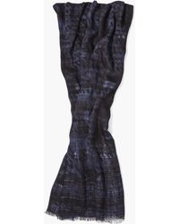 John Varvatos - Abstract Patterned Scarf - Lyst
