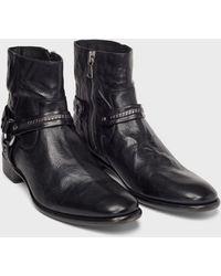 John Varvatos Eldridge Harness Boot - Black