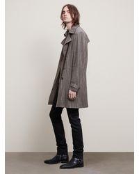 John Varvatos Textured Trench Coat - Gray