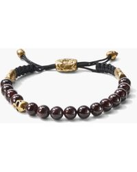 John Varvatos - 8mm Brass Skull With Color Beads - Lyst