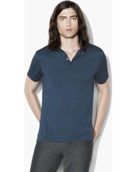 John Varvatos - Short Sleeve Polo - Lyst