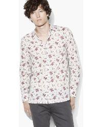 John Varvatos - Vintage Floral Print Shirt - Lyst