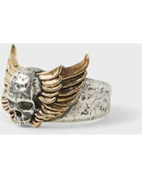 John Varvatos - Winged Skull Ring - Lyst