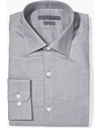 John Varvatos Slim Fit Melange Dress Shirt - Gray