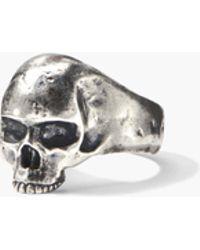 John Varvatos Silver Skull Ring - Metallic