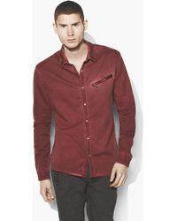 John Varvatos - Dyed Snap Button Shirt - Lyst