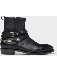 John Varvatos Star Usa Heritage Zip Boot - Black