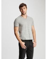 John Varvatos Cotton V-neck - Gray