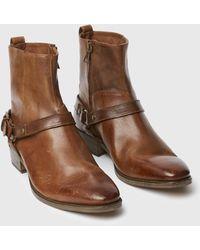 John Varvatos Ludlow Harness Boot - Brown