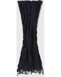 John Varvatos Star USA Men/'s Scarf Plated Thermal Ribbed Merino Wool Blend Black