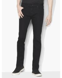 John Varvatos Bowery Knit Jean - Black