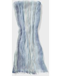 John Varvatos Loose Weave Yarn Dye Scarf - Blue