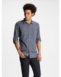John Varvatos Adjustable Sleeve Plaid Shirt - Blue