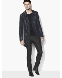 John Varvatos - Slim Fit Dbl Breasted Multi-button Coat With Wire - Lyst