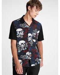 John Varvatos Bobby Bowling Shirt - Black