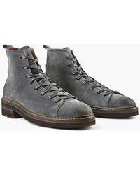 John Varvatos - Essex Suede Trooper Boot - Lyst