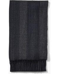 John Varvatos - Abstract Texture Wool Scarf - Lyst