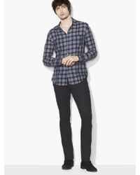 John Varvatos - Military Plaid Shirt - Lyst