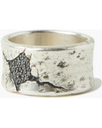 John Varvatos Sterling Silver Wide Band Ring - Metallic