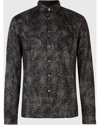 John Varvatos Vintage Camo Shirt - Black