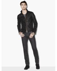 John Varvatos Wire Collar Leather Jacket - Black