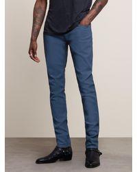 John Varvatos Chelsea Coated Slim Straight Fit Jean - Blue