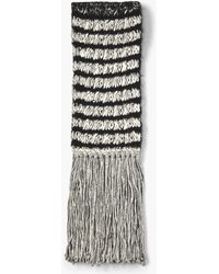 John Varvatos - Alpaca And Pima Cotton Knit Scarf - Lyst