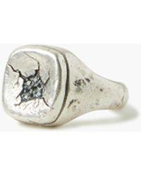 John Varvatos Sterling Silver Signet Ring - Metallic
