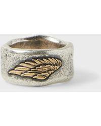 John Varvatos Wing Ring - Metallic