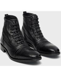 John Varvatos Fleetwood Lace Boot - Black