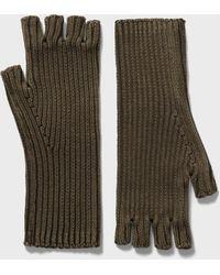 John Varvatos Fingerless Gloves - Green
