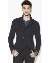 John Varvatos - Jacquard Striped Double Breasted Jacket - Lyst