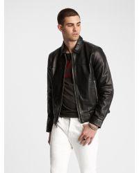 John Varvatos Marley Leather Jacket - Black