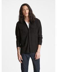 John Varvatos Knit Military Shirt - Brown