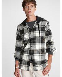John Varvatos Holger Hooded Shirt - Black